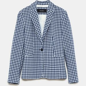 Zara Matching Co-ord Gingham Check Blazer